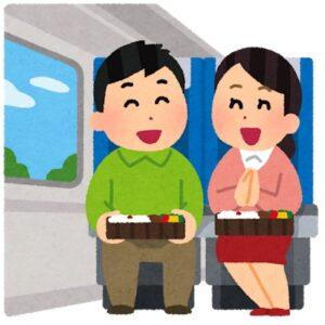 バスの中で食事