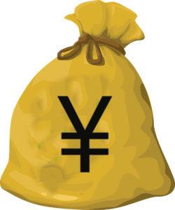 お金が入った袋のイラスト