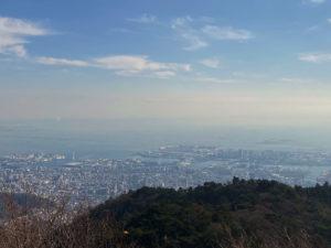 六甲山から下に見える神戸