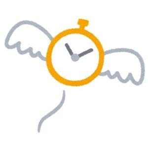 時間が羽をつけて飛んでいくイラスト