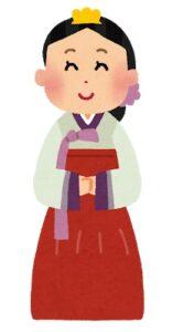 チョゴリを着た女性イラスト